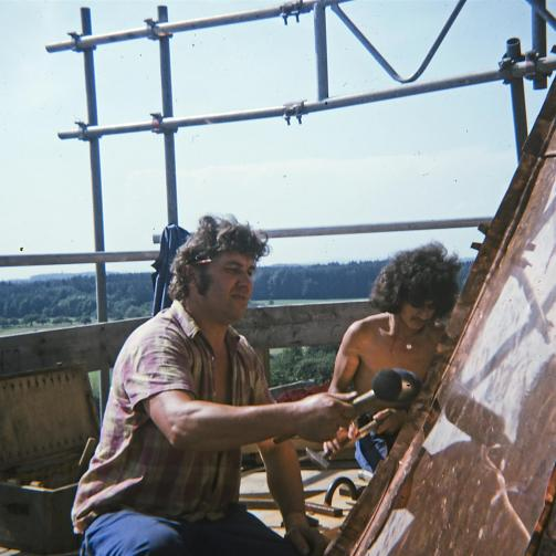 spenglerei arbeiten friedrichshafenKonrad Zerlaut 1975 Kirchturm Zwiebel 1